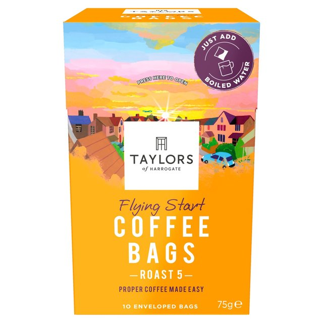 Taylors Flying Start Coffee Bags Ocado