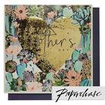 Paperchase Floral Gold Heart Card