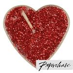 Paperchase Red Glitter Tea Lights