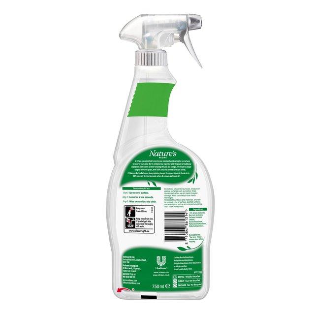 Cif Nature's Recipe Bathroom Cleaner With Vinegar