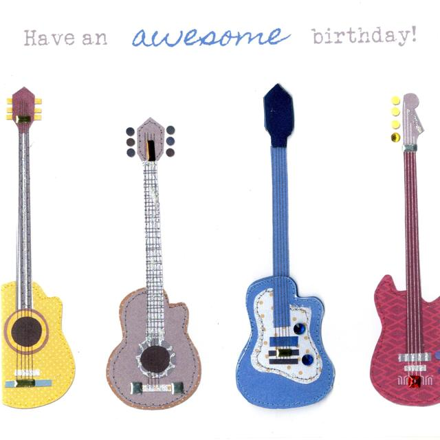 Guitars Birthday Card From Ocado