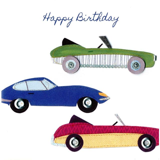 Fast Cars Birthday Card