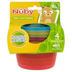 Nuby Stackable Bowls with Lids 4 pack