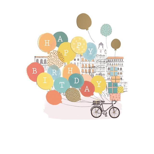 Balloon Happy Birthday Card From Ocado