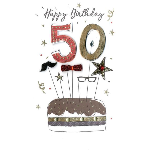 Mens 50th Birthday Card From Ocado