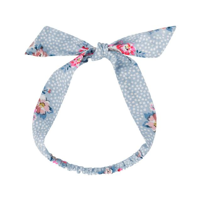 New - Cath Kidston Kids Elasticated Bow Headband Islington Spots Powder Blue 36500e7f572