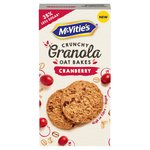 McVitie's Cranberry Granola Oat Bakes Biscuits