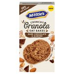 McVitie's Dark Chocolate & Almond Granola Oat Bakes Biscuits