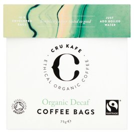 Cru Kafe Organic Fairtrade Decaf Coffee Bags Ocado