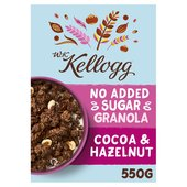 Kellogg's WK Kellogg No Added Sugar Cocoa & Hazelnut Granola