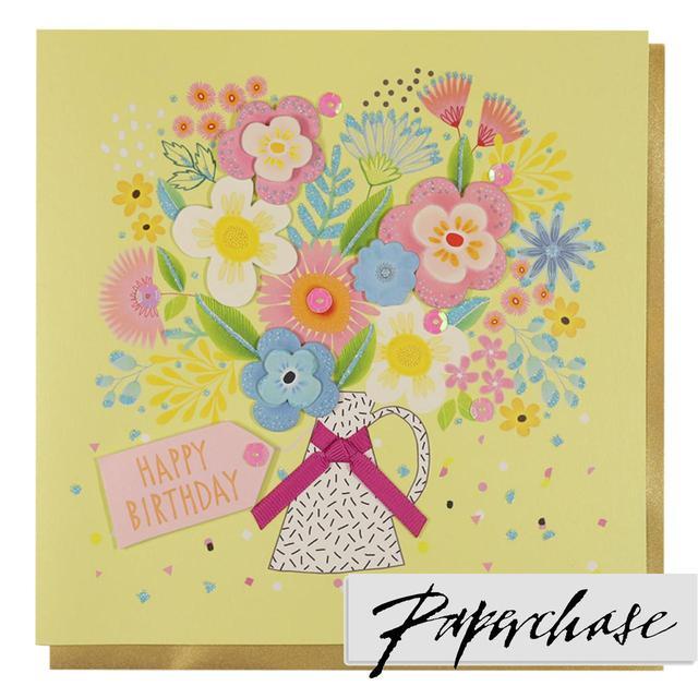 Paperchase Vase Flowers Happy Birthday Card From Ocado