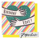 Paperchase Love Heart Birthday Card