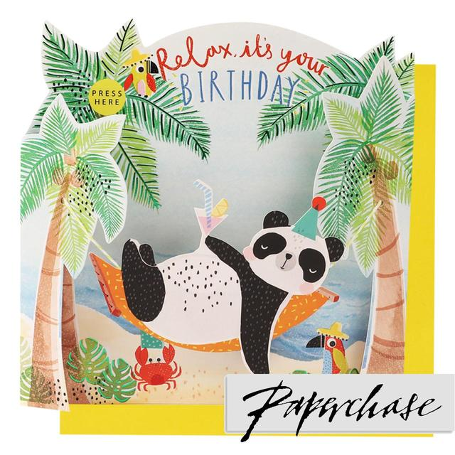 Paperchase Relax Panda Singing Birthday Card From Ocado