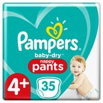 Pampers Baby-Dry Pants Size 4+, 35 Nappy Pants