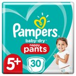 Pampers Baby-Dry Pants Size 5+, 30 Nappy Pants