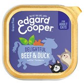 Edgard & Cooper Adult Grain Free Wet Cat Food with Beef & Duck
