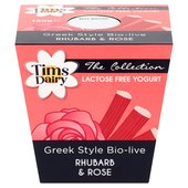 Tims Dairy The London Collection Rhubarb & Rose Yoghurt