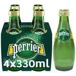 Perrier Sparkling Natural Mineral Water Glass