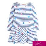 Joules Dress, Cream Stripe Glitter Bugs