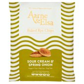 Aarne & Elsa Baked Rye Chips Sour Cream & Spring Onion