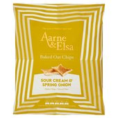 Aarne & Elsa Baked Oat Chips Sour Cream & Spring Onion