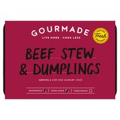 Gourmade Beef Stew and Dumplings for Two
