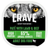 Crave Lamb in Loaf Natural Wet Dog Food Tray