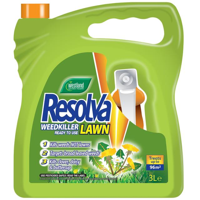 Resolva Lawn Weed Killer Extra Ready To Use, 3L