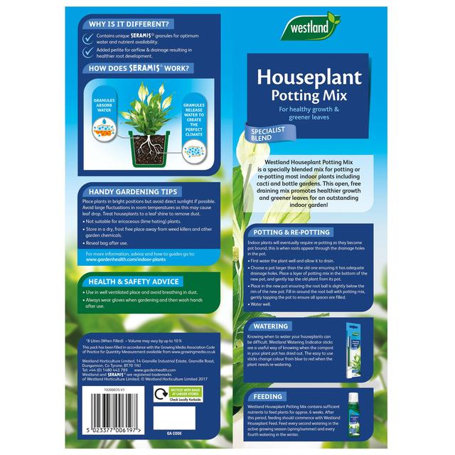 Westland Houseplant Potting Mix Compost