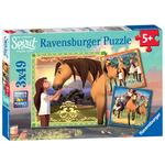 Dreamworks Spirit, 3x 49pc Jigsaw Puzzles