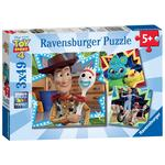 Disney Pixar Toy Story 4, 3x 49pc Jigsaw Puzzles