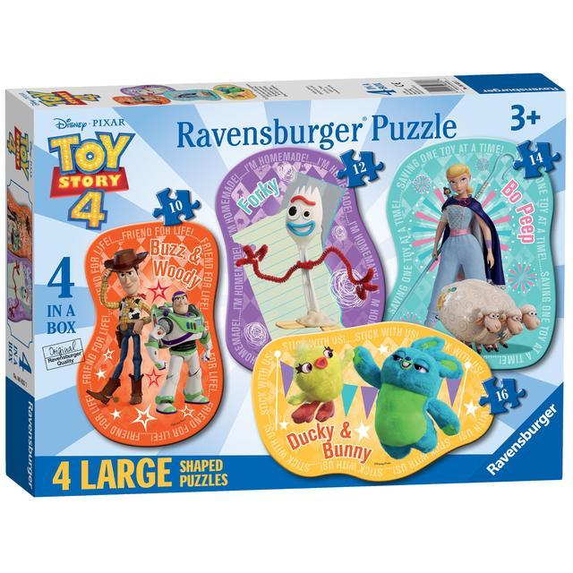 Disney Toy Story 4, 4 Large Shaped Jigsaw Puzzles | Ocado