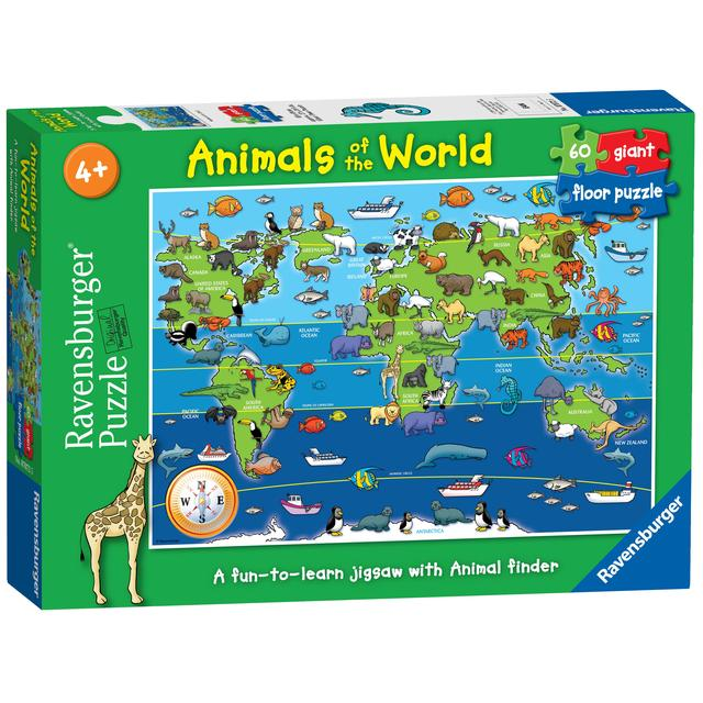 Animals of the World, 60pc Giant Floor Jigsaw Puzzle | Ocado