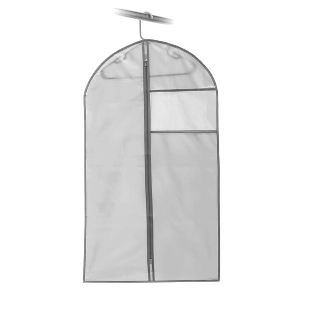 Addis Suit Cover Clothes Hanging Wardrobe Storage Bag, Grey