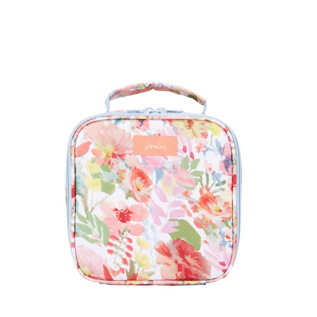 Joules Picnic Lunch Bag, White Floral