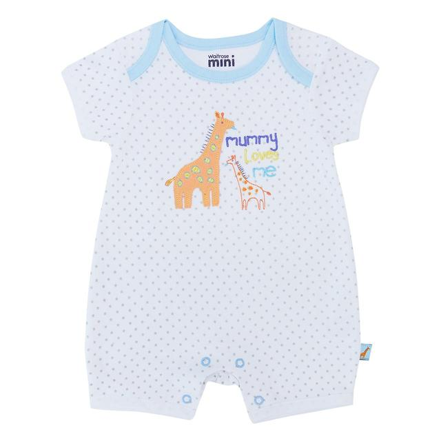 Waitrose Mini Alphabet Mummy All-in-one Romper