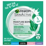 Garnier Moisture Bomb Sheet Mask The 5 Pack Collection