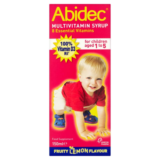 Abidec Multivitamin Syrup Fruity Lemon Flavour