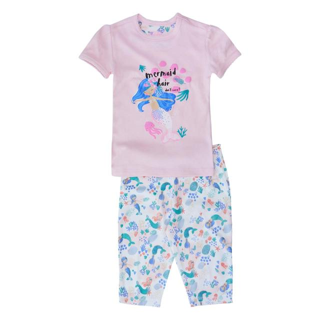 Waitrose Mini Mermaid Shortie Pyjamas
