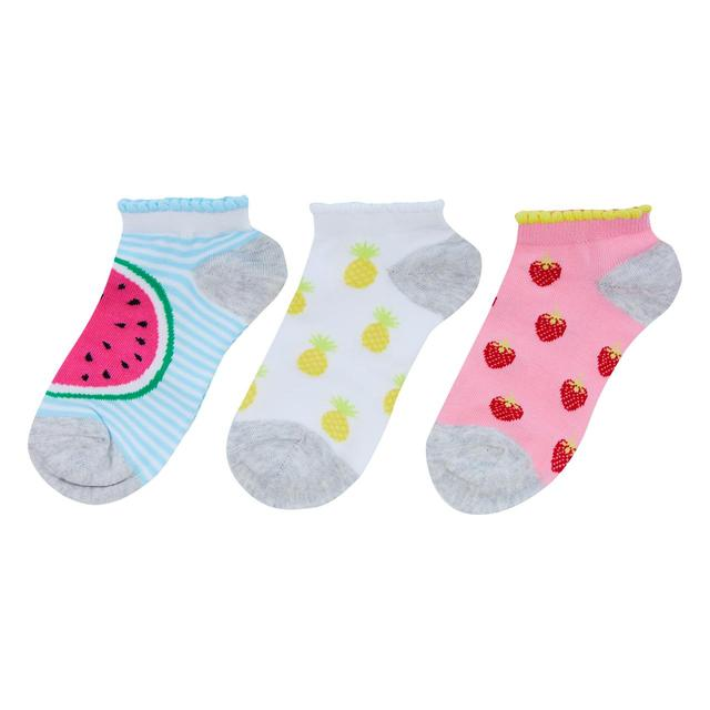 Waitrose Mini Fruit Trainer Liner Socks