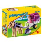 Playmobil 9390 1.2.3 Horse-Drawn Carriage with Removeable Canopy