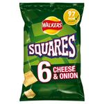 Walkers Squares Cheese & Onion Snacks