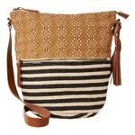 FatFace Diamond Patchwork Cross Body Bag, Natural