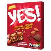 YES! Cranberry & Dark Choc Snack Bar Multipack
