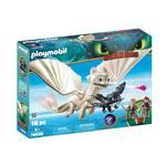 DreamWorks Dragons Light Fury with Baby Dragon and Children by PLAYMOBIL