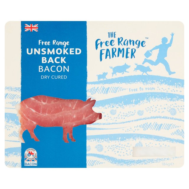 The Free Range Farmer Dry Cured Unsmoked Back Bacon