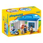 Playmobil 9382 1.2.3 Take Along Police Station with Lockable Prison Cells