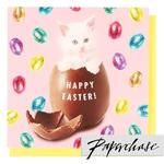 Paperchase Happy Easter Kitten Egg Card