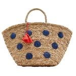 Joules Raffia Summer Bag, Spot
