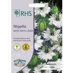 Johnsons Seeds - RHS Nigella Miss Jekyll Alba